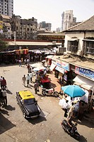 Suburban western railway local train station ; Grant road ; Bombay now Mumbai ; Maharashtra ; India