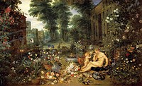 Allegory of smell, by Jan Brueghel the Elder, Velvet Bruegel (1568-1625).  Madrid, Museo Del Prado