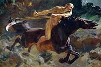 The horsemen of the Apocalypse, by Ulpian Checa Sanz (1860-1916).  Private Collection