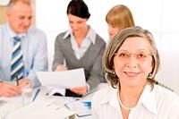 Business team meeting executive senior woman