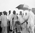 Mahatma Gandhi and others at Sevagram Ashram , 1941 NO MR
