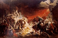 Last days of Pompeii, August 24, 79 by Karl Brjullov 1799_1852, oil on canvas, 4565x651 cm, Flavian dynasty, Italy, 1830