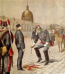 Traitor: Degradation of Alfred Dreyfus 1859_1935, cover of Le Petit Journal, 13 January 1895, by Henri Meyer 1844_1899, France, 19th century