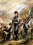 General San Martin crossing the Andes, 1817. Chilean War of Independence, 19th century.  Buenos Aires, Museo Histórico Nacional Del Cabildo De La Ciud...