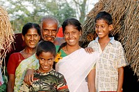 Happy family near Vadalur , Tamil Nadu , India NO MR