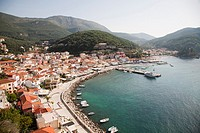 parga village, epirus, greece, europe