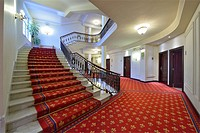 Hotel Carlton stairs, Bilbao, Basque Country, Biscay, Spain