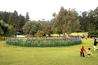 The Government Botanical garden which was laid out in 1847 by the Marquis of Tweeddale at Udhagamandalam Ooty , Tamil Nadu , India