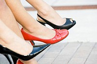 Businesswomen in high heels