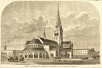 Bombay cathedral as about to be recast ; 18th February 1865 ; Bombay now Mumbai ; Maharashtra ; India