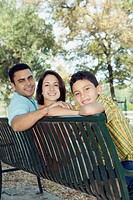 Family on a Park Bench