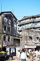 Swadeshi market old building ; Dr. Vegas street ; Kalbadevi ; Marine Lines ; Bombay Mumbai ; Maharashtra ; India