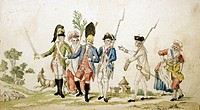 National Guards leaving for Paris, October 6, 1789. French Revolution, France, 18th century.  Versailles, Musée Lambinet