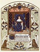 King Charles VI, miniature from the Inventory of King Charles V. France, 15th century.