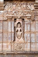 UNESCO World Heritage Site , Shiva appearing out of fiery Linga sculpture in Virupaksha temple is Dravidian architecture built by queen Lokamahadevi e...