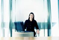 Blurry businesswoman