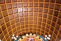 Altar ceiling of St. Thomas Kottakkavu church 1308 A.D. in North Paravur ; Kerala ; India