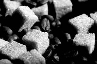Coffee beans bw