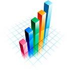 Business graph illustration