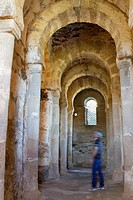 Inside of Santa Lucía del Trampal church VII century is one of the most outstanding visigothic chapel of Spain  Declarated BIC Cultural Interest Goods...