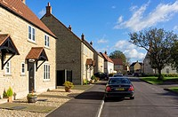 Street in a modern housing estate, UK