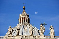 Cupola of St Peter´s Basilica in Vatican City