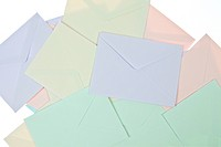 Backgroun of Colorful Envelops
