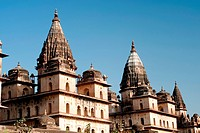 Cenotaphs of rulers , Orchha , Tikamgarh , Madhya Pradesh , India