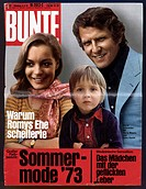 journals / magazines, 1973, Stern magazine, title number 11, Offenburg, 8.3.1973, title: Schneider, Romy, 23.9.1938 _ 29.5.1982, German actress, half ...
