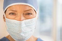 Portrait of female surgeon