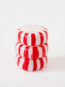 Studio Shot of stack of Peppermint Candies