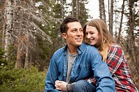 Portrait of young couple in non_urban scene