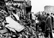 President Richard Nixon visited a scarred 2_block area of northwest Washington damaged in the riots following Martin Luther King's assassination in Ap...