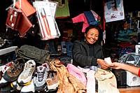 Woman selling goods; Kargil ; Leh ; Ladakh ; Jammu and Kashmir ; India NO MR 10-April-2008