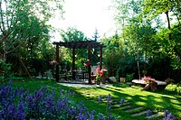 Backyard of villa