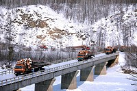 Log transportation with trailers