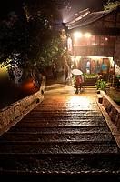 Night view of Wu town, Zhejiang province, China