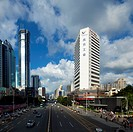 Scenery of city buildings in Shenzhen,Guangdong province,China