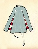 Sketch of a woman dress