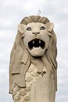 Merlion statue ; Sentosa ; Singapore