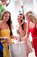 Women looking in shopping bag