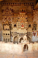 Clay replica of Moomal Ki Meri palace of Moomal princess , Jaisalmer , Rajasthan , India