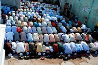Namaz by muslim community on occasion of Id ul fitr at , Idgah Jodhpur , Rajasthan , India
