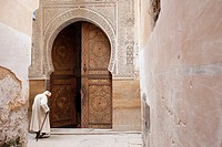 Open door of Mosque. Fes, Medina, Morocco