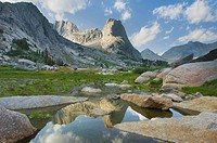 Pingora Peak in the Cirque of the Towers, Popo Agie Wilderness, Wind River Range Wyoming