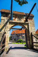 The moated castle of Vischering, Luedinghausen, North Rhine-Westphalia, Germany, Europe