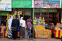 A group of Ethiopians buying fruit, Bahir Dar, Ethiopia