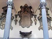 Courtyard of the Columns, also known as Michelozzo's Courtyard (Cortile delle Colonne or Cortile di Michelozzo). Palazzo Medici-Ricardi. Florence, Tus...