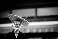 Man in traditional customs during Jidai Matsuri  Koyto, Japan