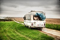 Motorhome in Longues sur Mer, Normandy, France